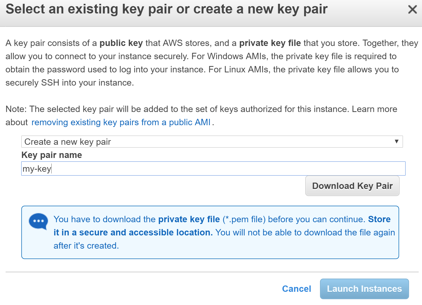 EC2 key
