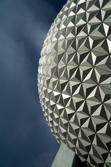 Epcot Center - There was a storm a brewing!