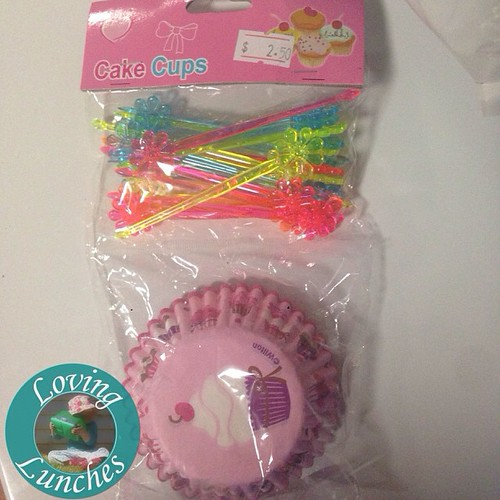 Loving buying cupcake liners just for the picks that go with them… #bentoproblems