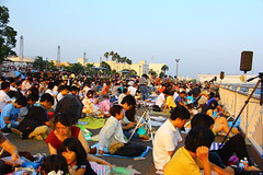 Waiting for the Hanabi (fireworks) - Nagoya Port - Japan