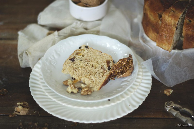 fig walnut sultana bread slice