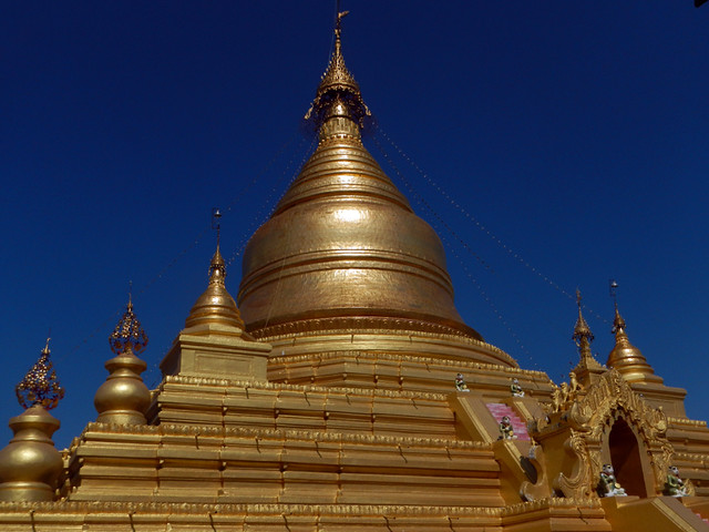 Gilded Stupa at Kuthodaw Pagoda in Mandalay, Myanmar