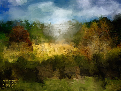 Landscape image painted in Corel Painter