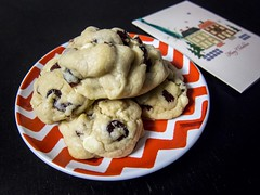 Dried Cranberry White Chocolate Chip Cookies