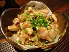Fried Chicken Sikn with Jpanese Vinegar @Kazuki, G…