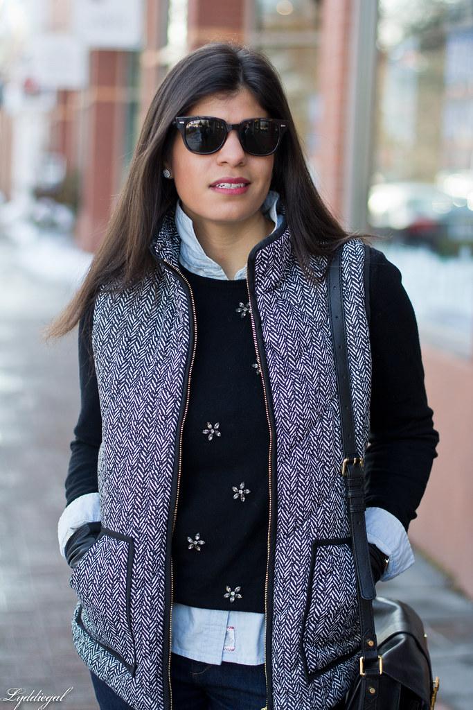 jeweled sweater, chambray shirt, herringbone vest-2.jpg