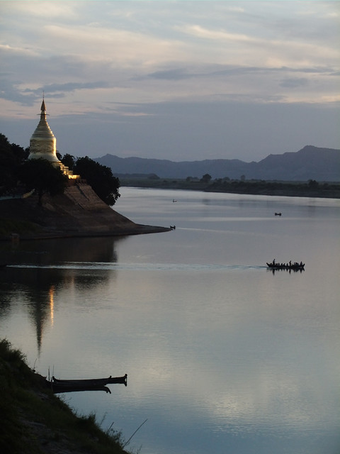 Golden Temple Catching the Sunset in Bagan, Myanmar