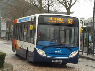 Stagecoach Enviro 200 SN64OKK 37212 seen in Central Milton Keynes on the 53 to Hospital, 26th February