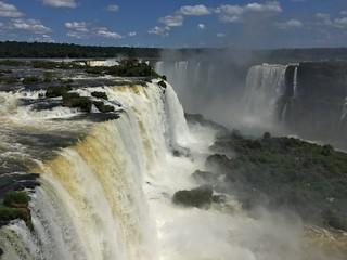 Mirante do Espaço Naipi, Foz de Iguaçu Falls, Paraná, Brasil.