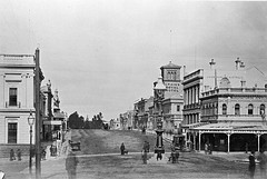 Looking South of Lydiard Street on corner of Sturt and Lydiard (1880)