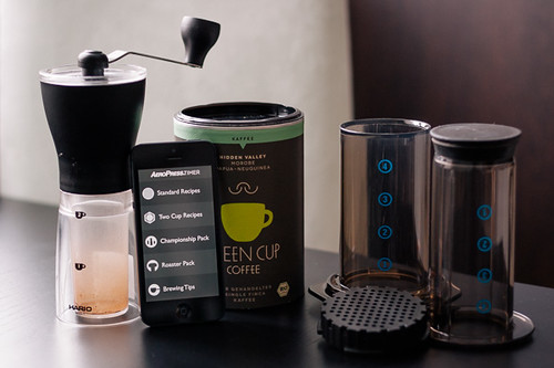 Mein AeroPress Equipment mit Timer