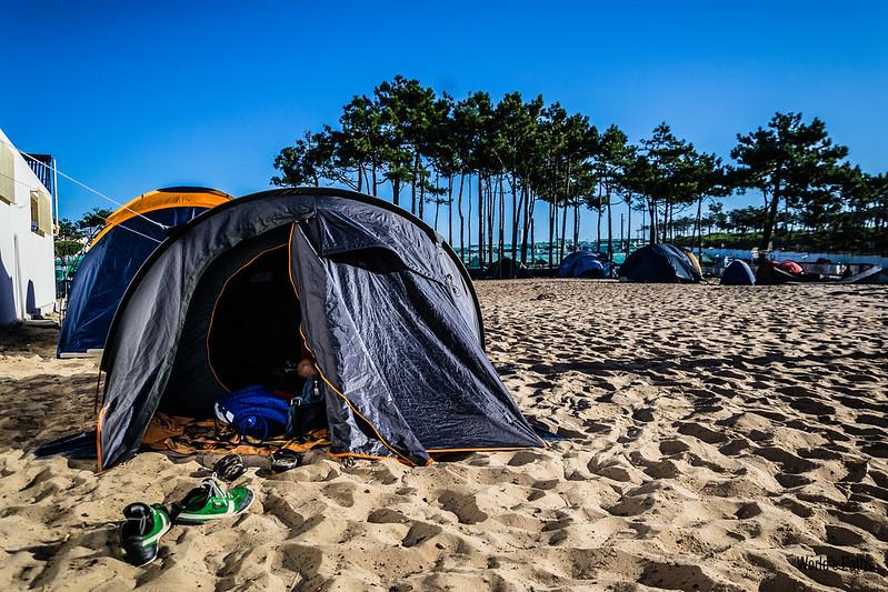 Campeggio a Praia da Santa Cruz