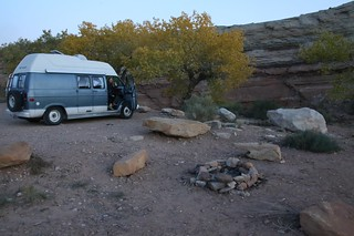 Camped for the night at Little Wild Horse Canyon tralhead, Utah