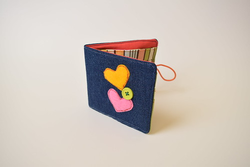 Bi fold denim wallet