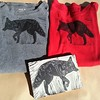 #Linocutshirt,#wolfshirt, #adventureartist #printmaking #stonetriggerpress #testprint