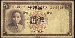 Chinese 5 Yuan note