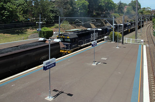 Pacific National's 82 Class locomotive hauling coal