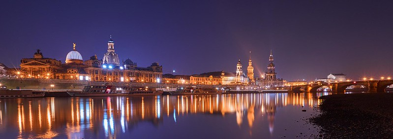 Old town by night - Dresden