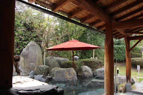国民宿舎 山紫苑(鳥取市) 露天風呂