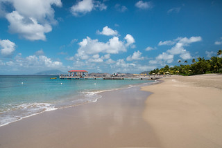 The beach at the Four Seasons, Nevis