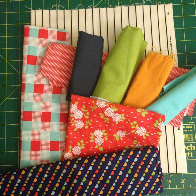Riddle and {Whimsy} kitten mini swap (potential layout) - Happy Go Lucky fabrics
