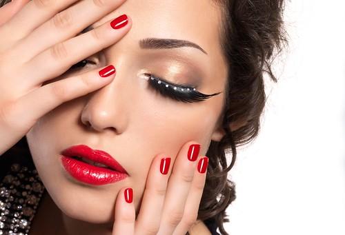 Permanent makeup and nail polish
