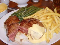 12oz Redcliffe Pave Rump Steak, Frites, Green Bean…