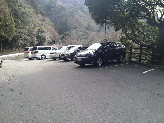 宮妻峡キャンプ場 駐車場