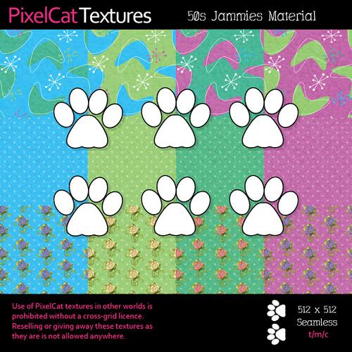 PixelCat Textures - 50s Jammies Material