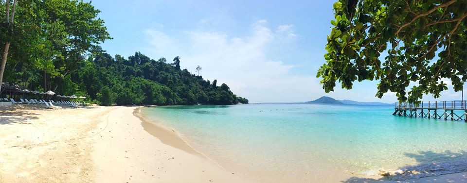 gaya island resort - beach