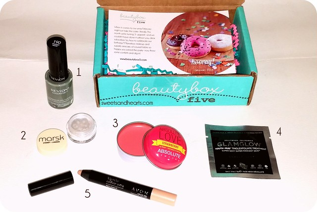 Beauty Blurb: Beauty Box 5 February Unboxing Review + Swatches with Marsk, Revlon, Absolute New York, Avon, and GlamGlow