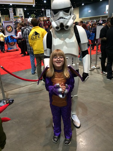 Catie and the stormtrooper. I am the proudest geek mom you ever did see.