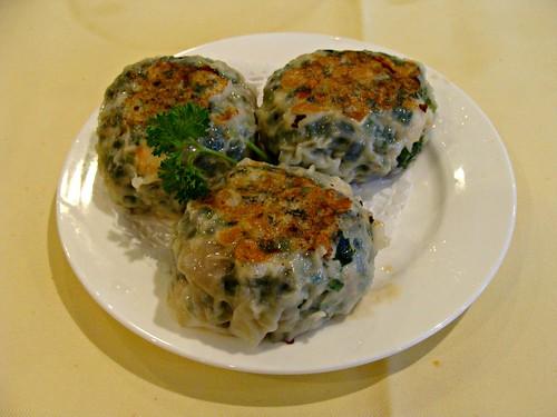 Pan Fried Shrimp and Leek Crepes