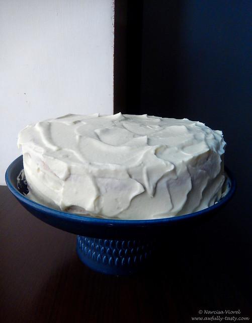 tort cu orange curd si crema de mascarpone