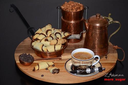 Chocolate malted Rugalach