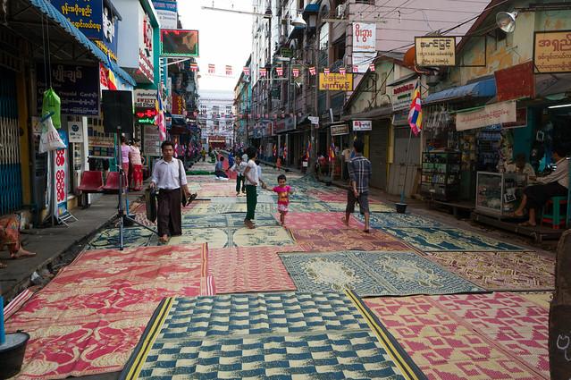 yangon festival street