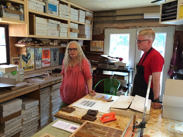Geri McCormick and James Grieshaber of Virgin Woodtype