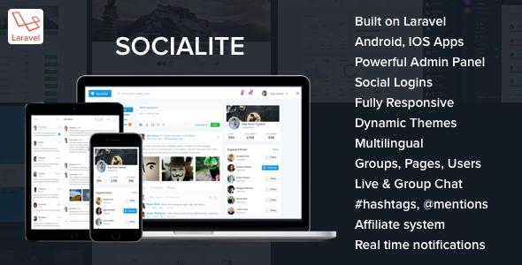 Socialite v1.1 - Laravel Social Network Script