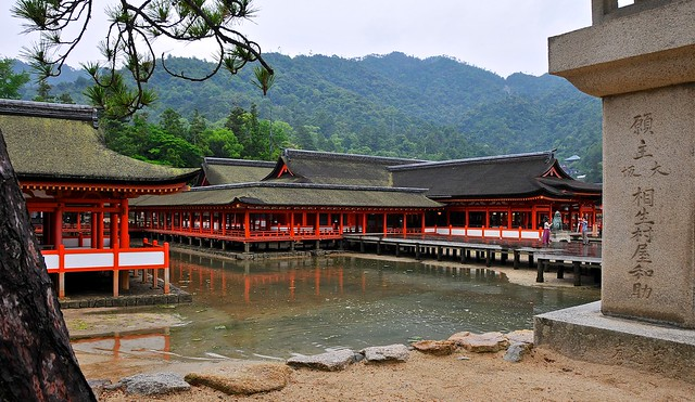 Miyajima shrine and lantern