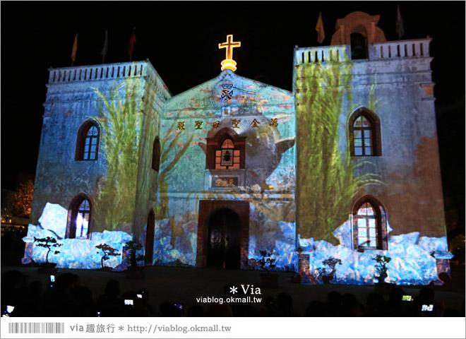 【萬金教堂】屏東萬金教堂聖誕季~3D光雕秀+耶誕地景藝術/全台最濃耶味小鎮!16