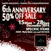 2014Dec 6thAnniversary Sale