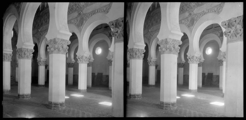 Sinagoga de Santa María la Blanca  hacia 1900. Fotografía de Alois Beer © Österreichische Nationalbibliothek