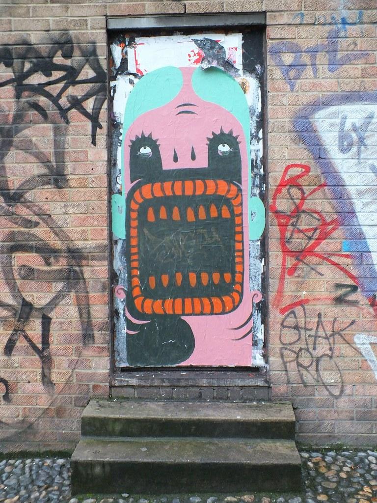 Plin Street art in Shoreditch, London.