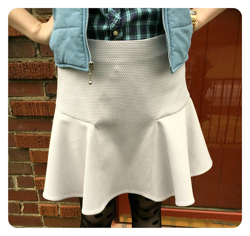 Red Knits_Gray Fluted Skirt