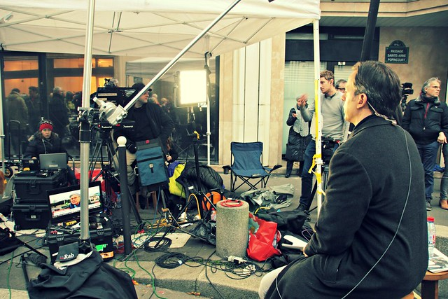 CNN Newscrew at Charlie Hebdo