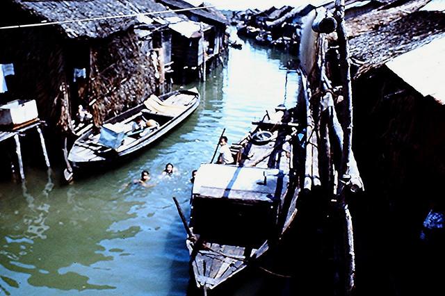 Vietnam 1968 - Kids Swimming