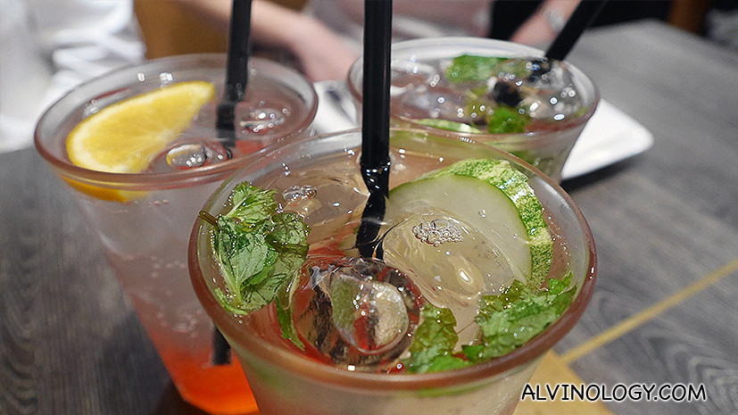 Blood Orange & Minty Cucumber Cooler $4.90++