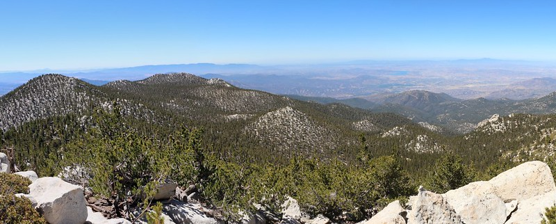 View west from the San Jacinto Peak Summit
