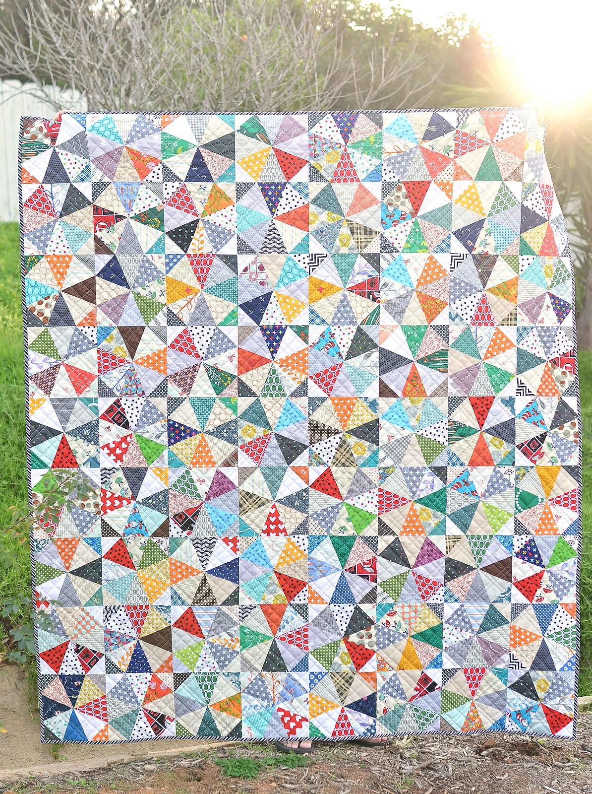 scrappy kaleidoscope quilt