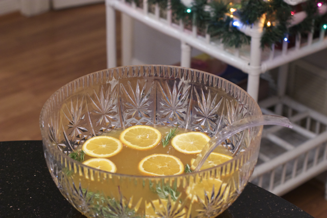 rosemary ginger champagne punch